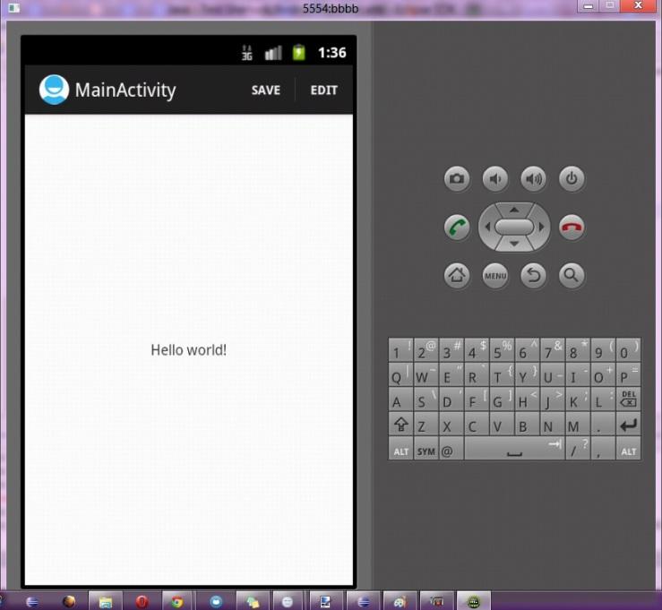 tampilan actionbarsherlock sederhana di android 2.3